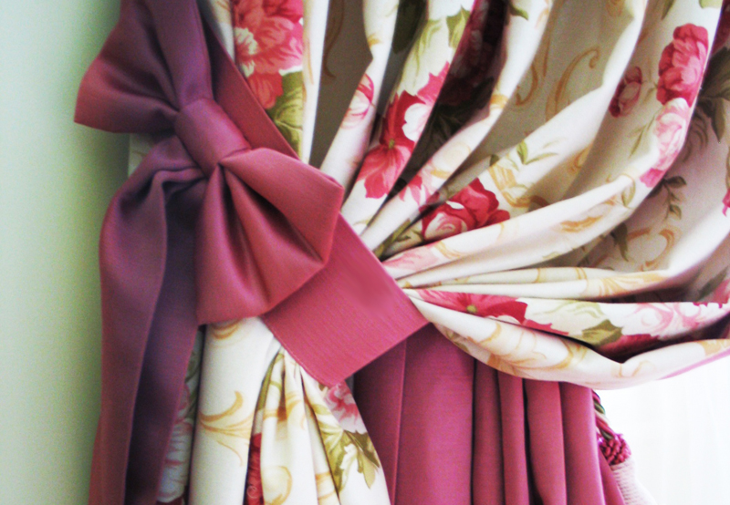 Подхваты из ткани для штор