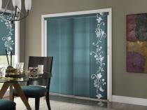 Interior-Sliding-Glass-Door-Curtains-Nice-Blue-Floral-Pattern-