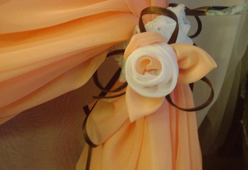 Цветы для штор из ткани своими руками мастер класс фото