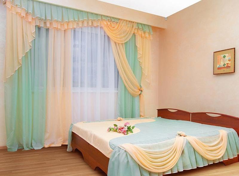 Дизайн вуали для спальни
