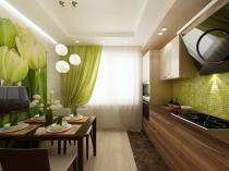 Дизайн-проект интерьера кухни в современном стиле
