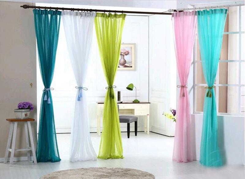 Как украсить вуаль шторы своими руками
