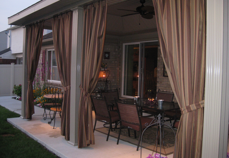 Inexpensive outdoor curtains