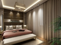 Wooden-floor-carpets-and-curtains-for-bedroom