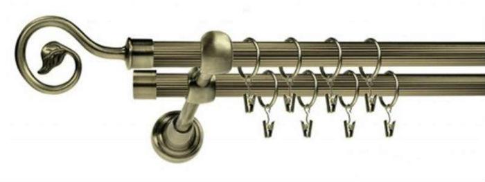 Трубчатые металлические штанги могут быть гладкими либо рифленые
