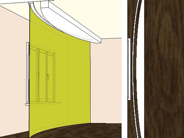 На схеме один из вариантов, как оформить оригинальную нишу для установки скрытого карниза