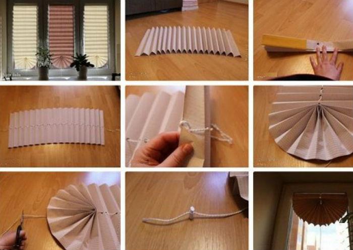 Сделай сам своими руками из бумаги шторы
