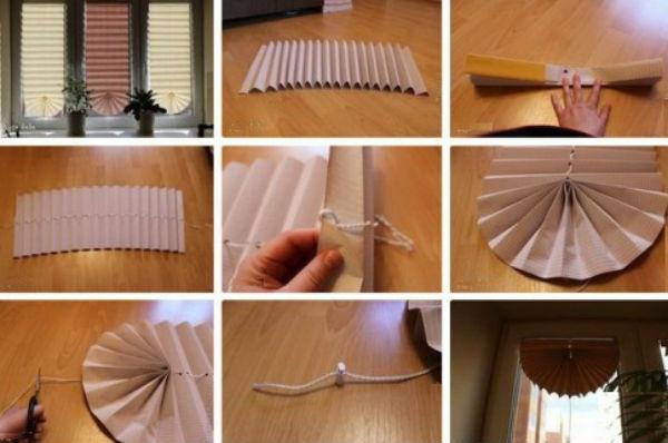 Сделать шторки своими руками из бумаги