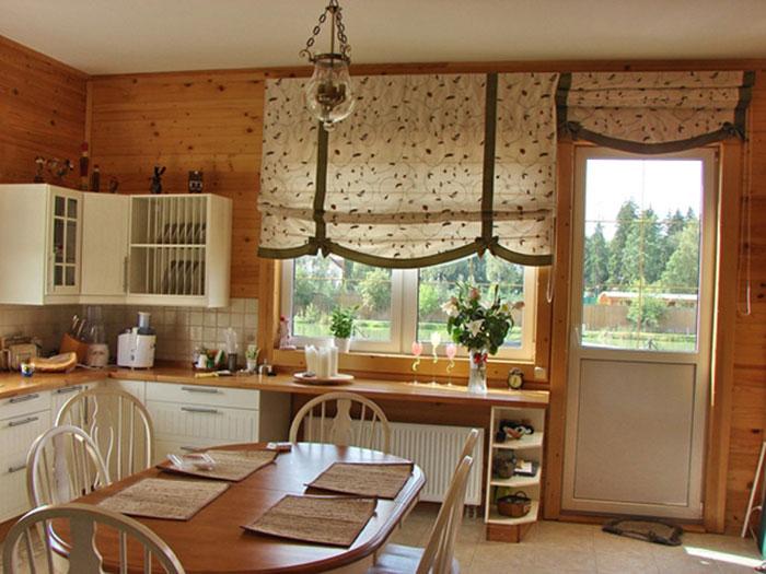 Следите, чтобы занавески сочетались с общим стилем и вписывались в дизайн помещения