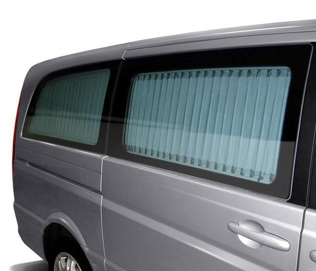 Классический вариант занавесок в микроавтобус