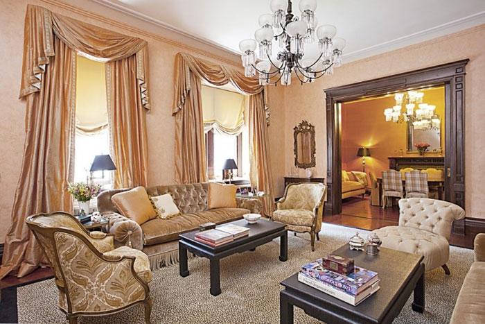 Шторы в классическом стиле гостиная