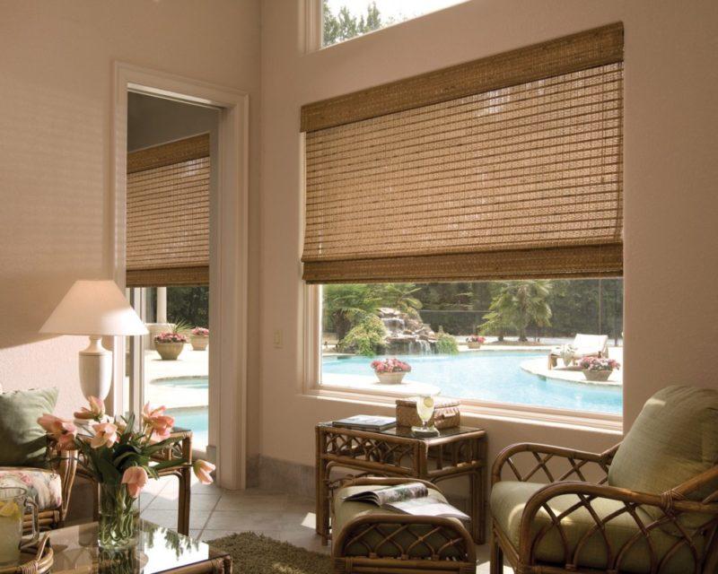 Профессионалы рекомендуют сочетать бамбуковые шторы с такими стилями как: прованс, кантри, минимализм, эко-стиль