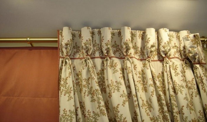 шторы на бантовой ленте фото