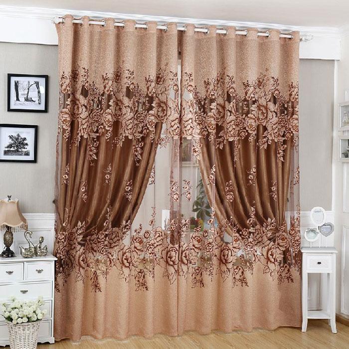 Красивые шторы на люверсах дополнят интерьер спальни